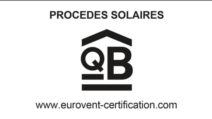 Certification QB Procédés solaires