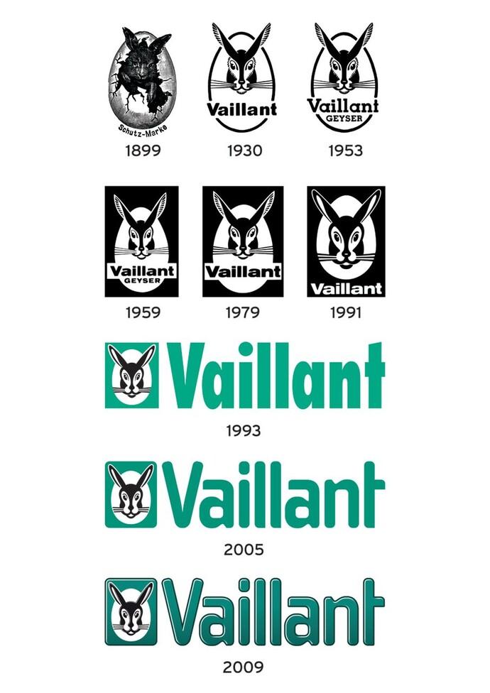 L'évolution du logo Vaillant