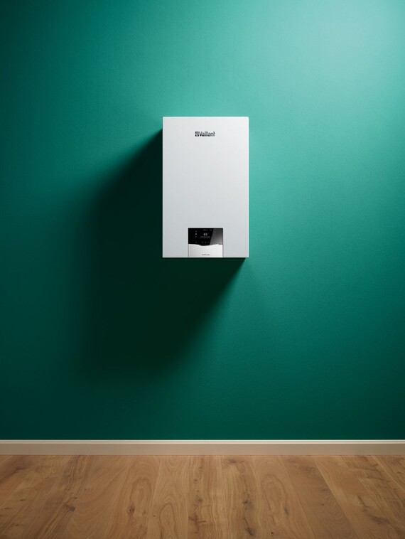 Front view on wall-hung boiler ecoTEC plus