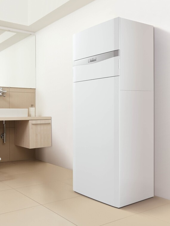 chaudi re sol gaz condensation avec eau chaude solaire aurocompact. Black Bedroom Furniture Sets. Home Design Ideas